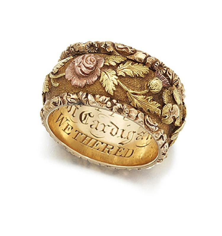 A historically important early 19th century gold ring that was given to Lord Cardigan of 'Charge of the Light Brigade' fame
