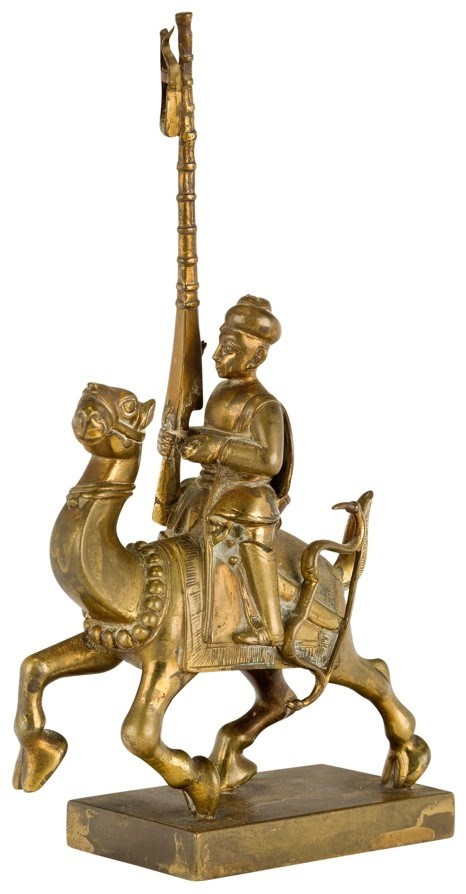 A brass Vizagapatam toy soldier