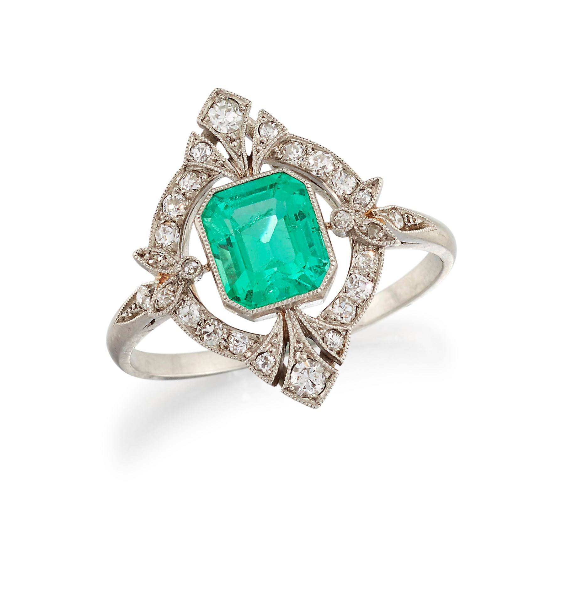 French Belle Epoque emerald ring
