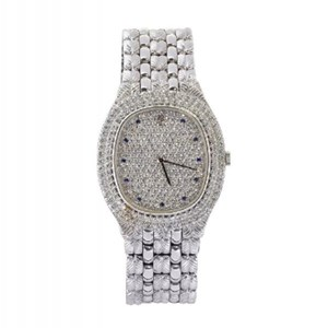 An 18ct white gold and diamond quartz wristwatch by Audemars Piguet
