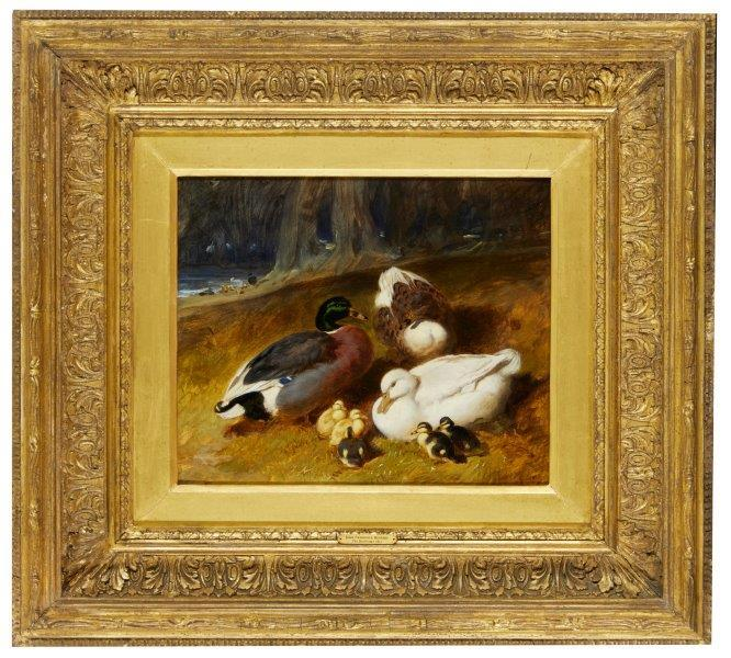 John Frederick Herring, Snr. British 1795-1865- The Ducklings, 1851; oil on panel