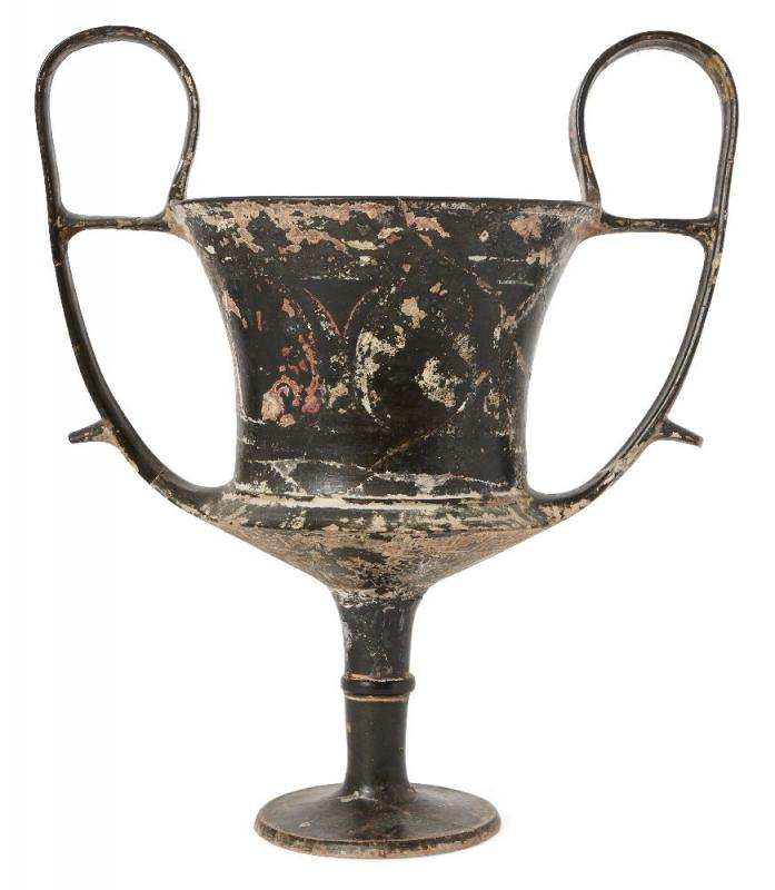 A large Boeotian black glazed kantharos, circa 5th Century B.C.