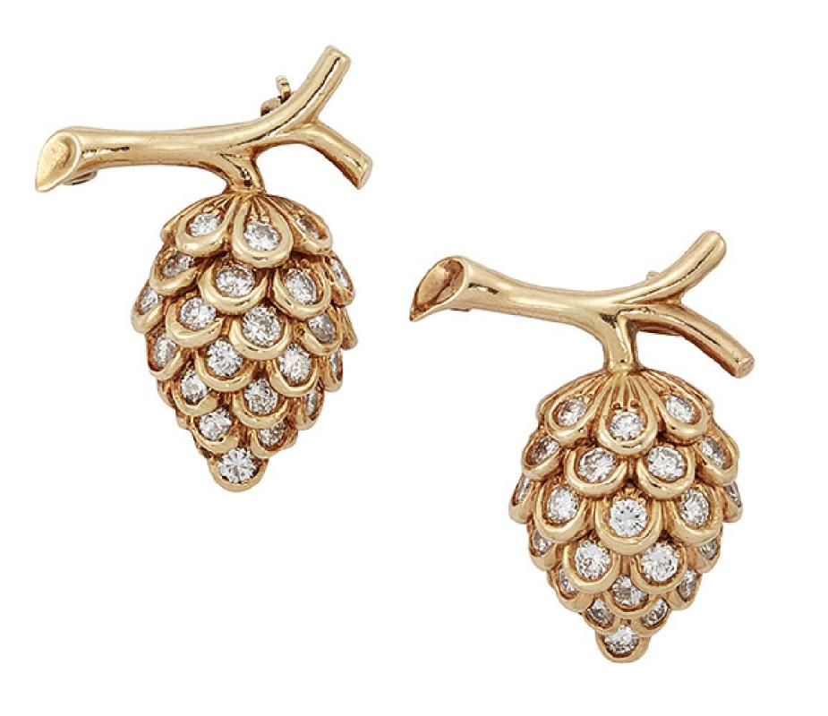 A pair of diamond brooches by Verdura