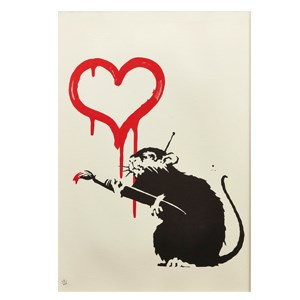 Banksy Love Rat