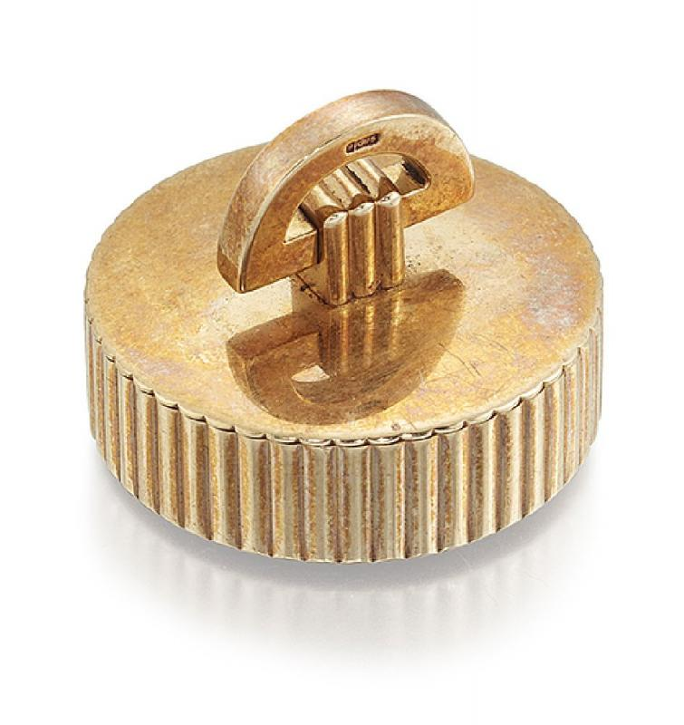 Gold Cartier Pill Box