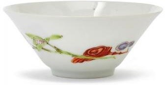 rare and fine Chinese porcelain famille rose bowl