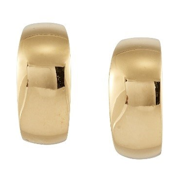 A pair of earrings by Mauboussin, of curved panel design, both signed Mauboussin Paris and numbered C9973