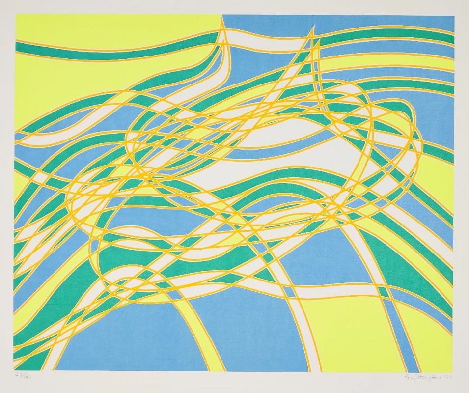 149 : Stanley William Hayter CBE, British 1901-1988- The Aquarius Suite [Black & Moorhead 337-340], 1970; four screenprints in colours on Bristol Board wove