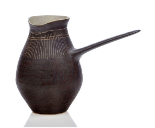 Dame Lucie Rie (1902-1995), a stoneware jug c.1955, impressed seal to base