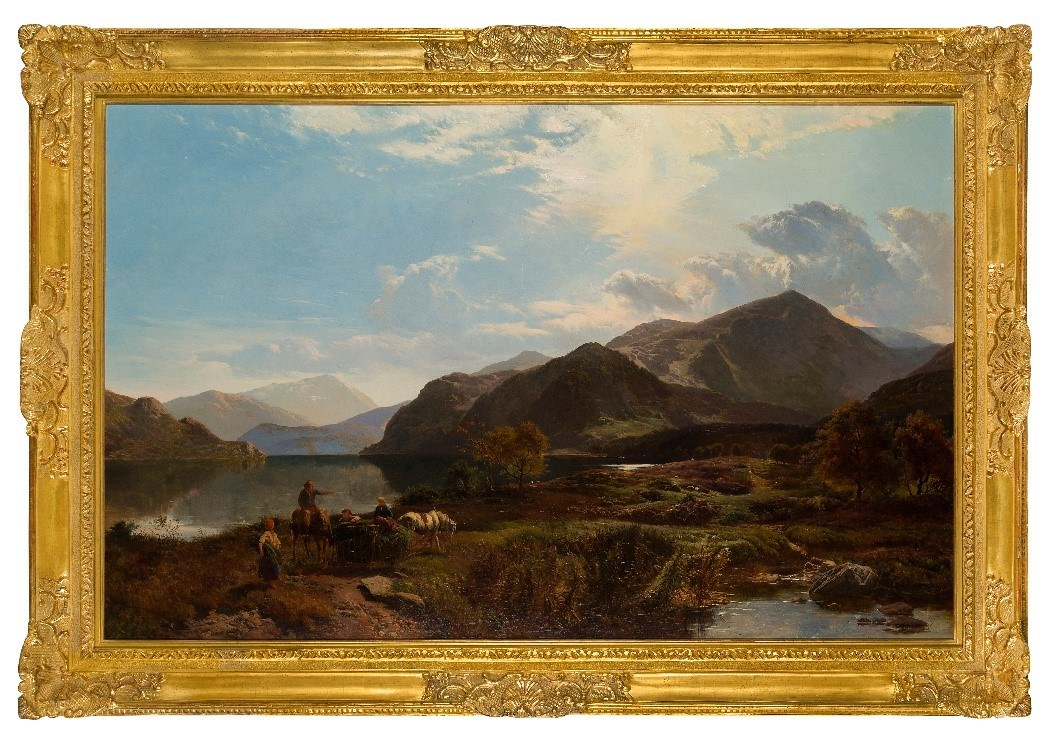 Sidney Richard Percy, British 1821-1886- A Bright Day at Ullswater; oil on canvas