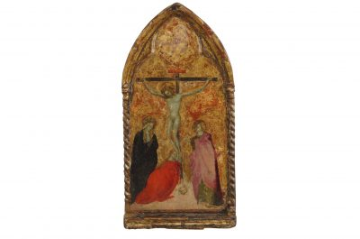 Lot 1: The Crucifixion, Sienese School – £600-1,200