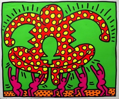 "Lot 118 Keith Haring, ""Untitled, No 5"", Fertility Suite, 1983; screenprint in colours, signed"