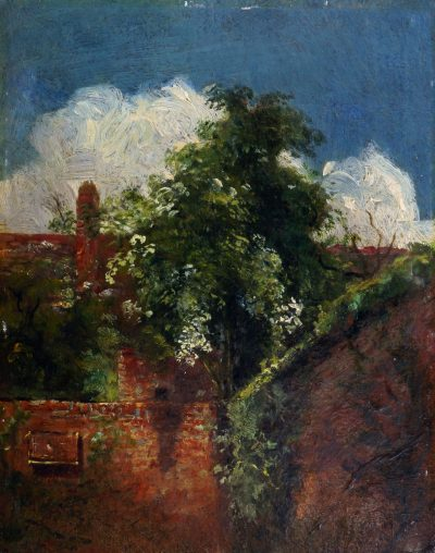 Lot 148 John Constable RA, British 1776-1837 View towards the back of houses, with elder tree Estimate £20,000-30,000