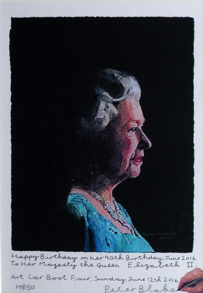 Lot 2: To Her Majesty the Queen Elizabeth II (2016) by Sir Peter Blake – £1,700