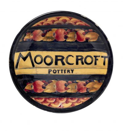 Lot 26: Moorcroft ceramic advertising plate – £3,600 (£4,500 with premium)