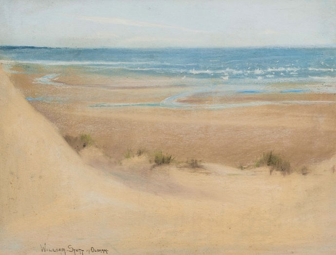 William Stott of Oldham, British 1857-1900- Sparkling Sea; pastel, signed, 23.5x31cm
