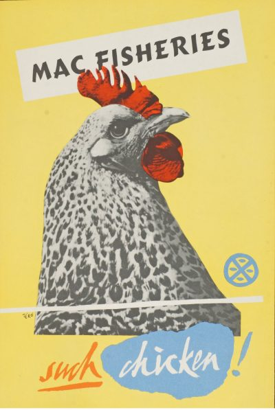 A collection of 12 Mac Fisheries advertising lithographic posters in colours Estimate £150 - £200