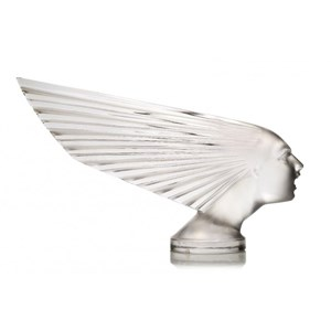 René Lalique (1860-1945), a clear and frosted car mascot 'Victoire' No. 1147
